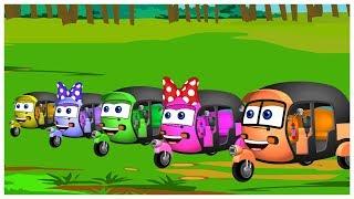 Mega Auto Finger Family | Finger Family Song and More Adventures of Rickshaws
