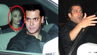 ANGRY Salman Khan WARNS Reporters To Stay Away From Girlfriend Lulia Vantur In Car