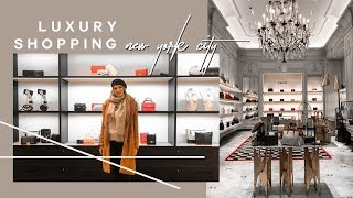 COME LUXURY SHOPPING WITH ME IN NEW YORK | SAKS + BERGDORF | MON MODE