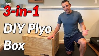 HOMEMADE DIY 3-in-1 PLYO BOX // Best Design, Easy To Make, One Piece Of Plywood
