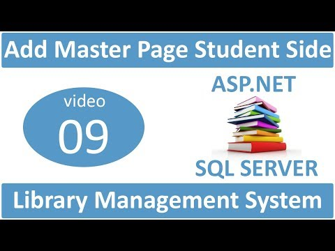 how to add master page student side in asp.net LMS