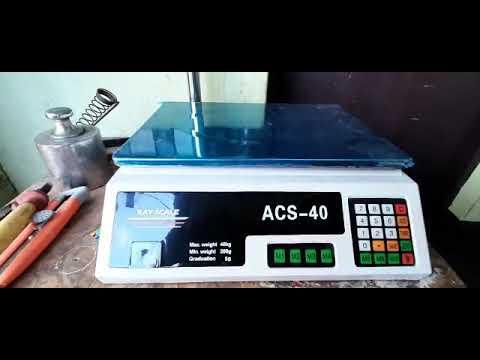 Calibración de balanza electrónica marca Ray Scale modelo ACS40