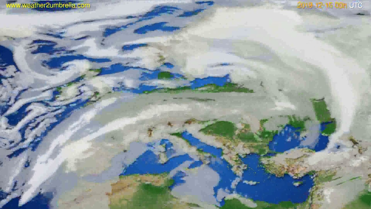 Cloud forecast Europe // modelrun: 00h UTC 2019-12-15