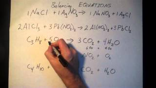 Balancing Chemical Equation Examples
