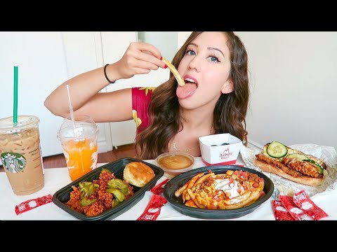 NEW FAST FOOD MUKBANG!! TACO BELL, KFC, JACK IN THE BOX (Eating Show)