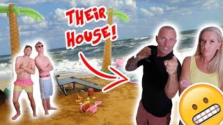 TURNING MY PARENTS HOUSE INTO A BEACH PRANK! WITH MY BROTHER! (NOT CLICKBAIT)