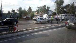 Авария в городе Семей 13 08 2014