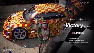 JOT381 GRAN TURISMO SPORT 101018 KYOTO PARK II VW BEETLE 1st to 1st FASTEST LAP 5 LAPS 837th WIN