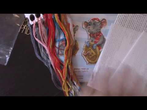 Новинка от Жар-птицы\Обзор набор -Крыс на пластиковой канве\Вышивка крестом.