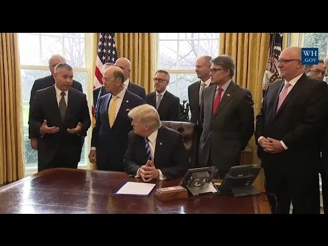 President Trump Announces Approval of Keystone Pipeline 3/24/17