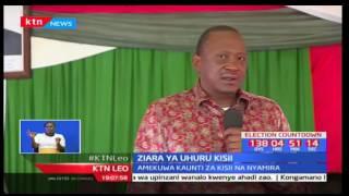 Rais Uhuru Kenyatta apeleka kampeni kwa Wabagusii