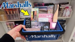 Come Shopping With Me At MARSHALLS For CHEAP HIGH END + DRUGSTORE MAKEUP! *amazing Deals*