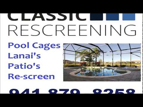 Pool Cage Screen Amp Rescreen Repair Sarasota Bradenton