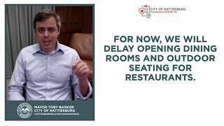 Hattiesburg's mayor not opening restaurants in city