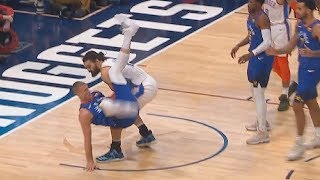 Steven Adams Saves Mason Plumlee From Scary Fall Instead Of Scoring! Thunder vs Nuggets