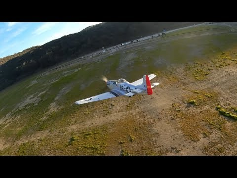 fpv-drone-close-chase-of-freewing-p51d-old-crow-unedited