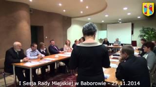 preview picture of video 'I Sesja Rady Miejskiej w Baborowie - 27.11.2014'
