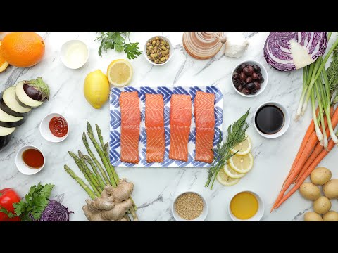 Parchment Baked Salmon 4 Ways // Presented by LG USA