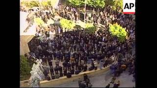 Funeral for assassinated former warlord Hobeika + file