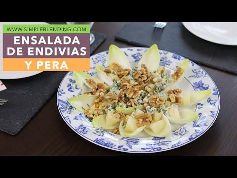 Receta de ensalada de endivias | Ensalada con pera | Muy fácil