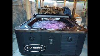 Otway-4  222*222*100 Переливной спа бассейн (может быть встроен в пол) от компании Comfort SPA - бассейны и СПА бассейны, комплектация зон отдыха - видео