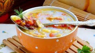 Суп куриный с фасолью (супы в мультиварке рецепты).
