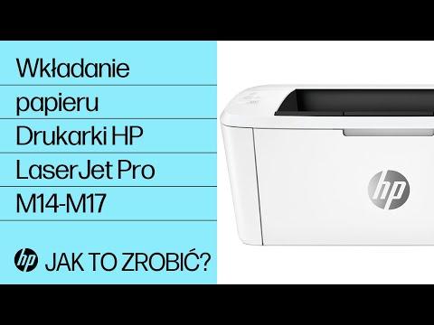 Jak wkładać papier do drukarek HP LaserJet Pro M14-M17