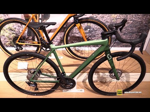 Видео о Велосипед Scott Addict Gravel 20 green/black 269903.023, 269903.022