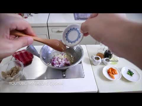 Mini Food: Chicken Pares (Pinoy Food) (Miniature Cooking Sounds) (DIY ) (ASMR)