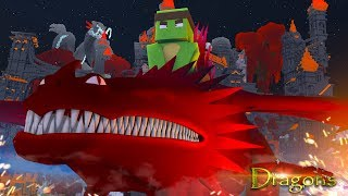 TAMING THE RED SKRILL DRAGON! - Minecraft Dragons S2 #14