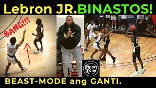 LEBRON JAMES JR. Nag BEAST-MODE Pagkatapos Mabastos | Pormahang Daddy Kung Mag Dunk