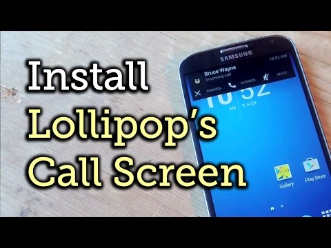 Get Lollipop's Incoming Call Banner On KitKat And Earlier Versions Of Android