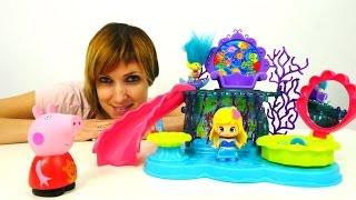Видео для детей: Свинка Пеппа, Тролли и другие игрушки из мультфильмов. Детский Сад с Машей