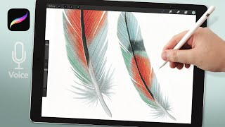 Watercolor Feathers In Procreate, Advanced Feather Painting