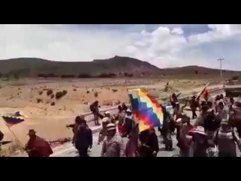 Parte de la milicia toman conciencia del genocidio y se unen a las marchas de los pueblos originario
