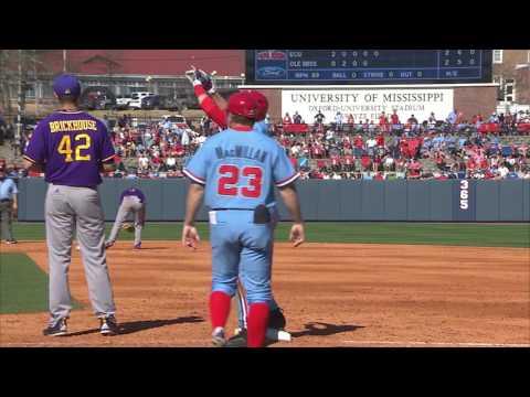 Ole Miss Baseball Defeats #6 ECU 8-6 (2-19-17)