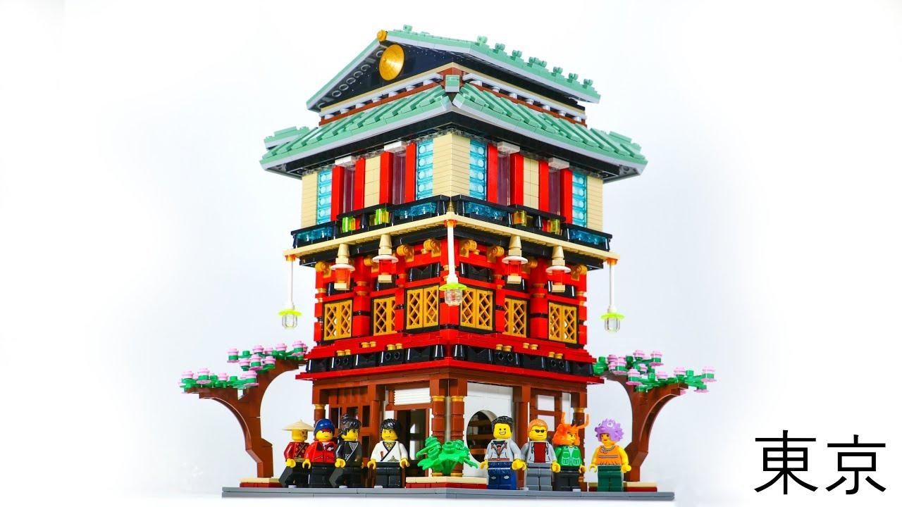 MASSIVE LEGO Tokyo Style Sushi Restaurant MOC