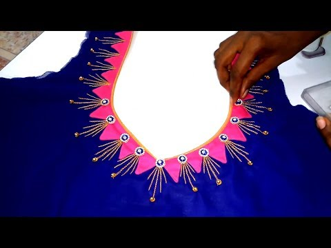 Easy To Create Grand Embroidery Blouse Design for Embroidery Saree Blouse Back Neck Design
