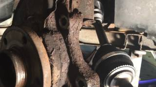 97 Volvo 850 Axle Replacement And Brake Job