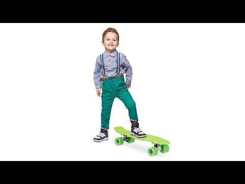 Kinder Skateboard 22 Zoll mit ABEC 7 in grün