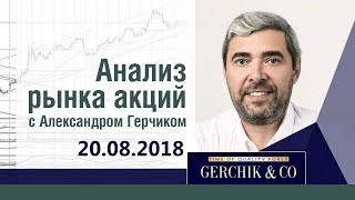 Анализ акций 20.08.18 ✦ Фондовый рынок США и ЕВРОПЫ ✦ Лучший анализ Александра Герчика