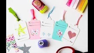 DIY Gift Tags Using Scraps
