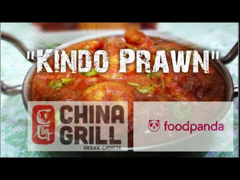 """""""Kindo Prawns"""" from China Grill resturaint Delivered by Foodpanda (Unboxing)1080p"""