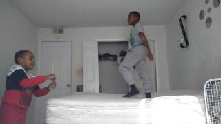 How to do a backflip on the bed