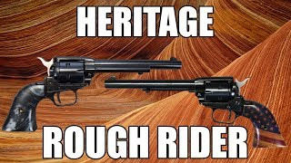 "Heritage Rough Rider, Single Action Revolver, 22LR, 4.75"" Barrel, Black Finish, Black Pearl Grips, 9 Round"