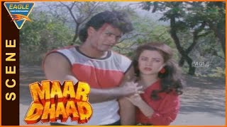 Maar Dhaad Hindi Movie  Hemant Birje Super Fight Scene  Hemant Birje Mandakini Huma Khan