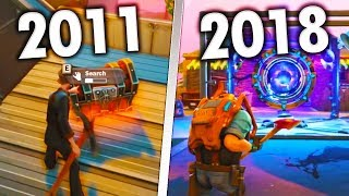 Evolution of Fortnite Save The World 2011 to 2018