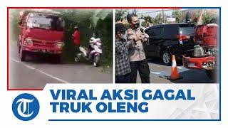 Viral Video Aksi Gagal Truk Oleng di Batang, Tabrak Penonton hingga Patah Tulang