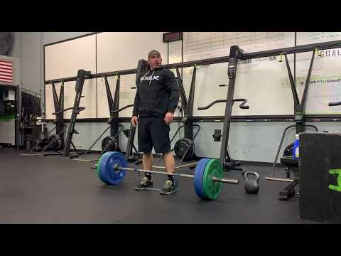 Banded conventional deadlifts