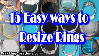 Need to Resize a Ring?  Easy Ways + 2 you never heard of - How to make ring fit at home - Lifehacks